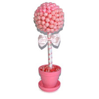 Pink Lollipop Baby Shower Topiary, Its a Girl Centerpiece, Baby Girl, Baby Shower Centerpiece, Girl Baby, Pink Baby Shower, Candy