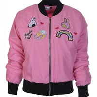 Frilly Pops Kawaii Patch Bomber Jacket | Attitude Clothing