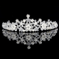 2015 The perfect wedding bride crown accessories / high-grade alloy pearl diamond hair Lavish Bridal Headband Tiara = 1929579780