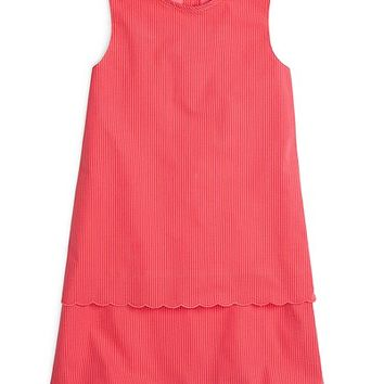 Scalloped Seersucker Shift Dress - Brooks Brothers