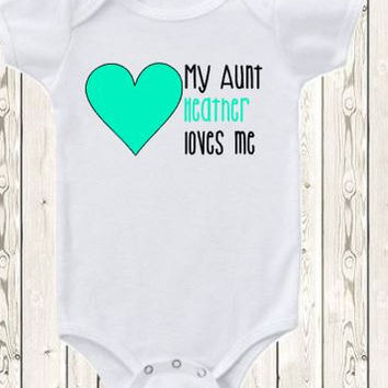 Shop aunt baby gifts on wanelo personalized aunt onesuit brand bodysuit or shirt my aunt love baby luesse the1styearbaby negle Image collections