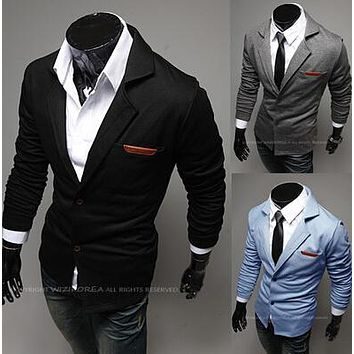 Hot Sale 2017 New Design Mens Brand Blazer Jacket Coats Casual Slim Fit Stylish Blazers For Men Male,Plus Size M~XXL,3 Colors