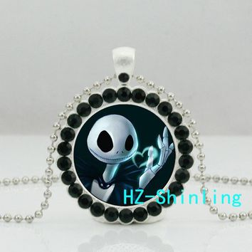 New The Nightmare Before Christmas Necklace Nightmare Before Christmas Jewelry Crystal Pendant Ball Chain HZ6
