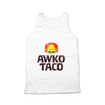 NWT Awko Taco Vintage Bell Typography Unisex Graphic Tank Top America Apparel