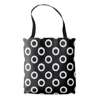 Modern Black and White Circles Tote Bag
