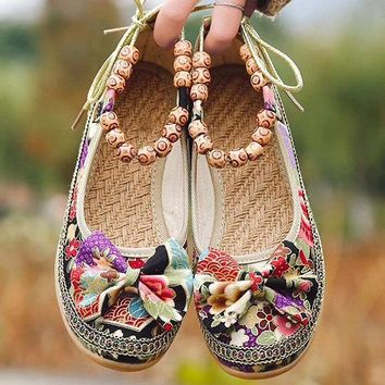 Beaded Wedges Casual Shoes