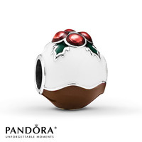 Pandora Charm Christmas Pudding Sterling Silver