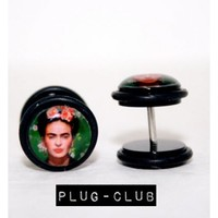Frida Kahlo Fake Plugs by Plug-Club