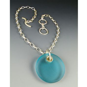 Inspired UPCYCLING Santa Monica Necklace Aqua