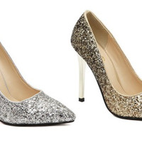 Stunning Sequin Point Toe Stylish Dress Heels