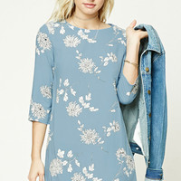 Contemporary Floral Shift Dress