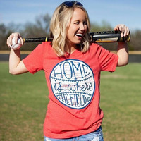 Home is where the field is Baseball t-shirt