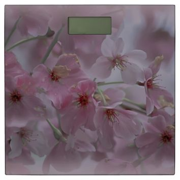 Pink Peach Blossom Digital Scale Bathroom Scale