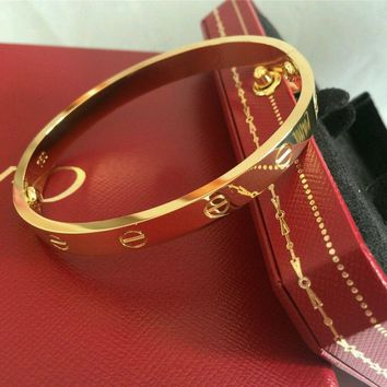 Cartier Love Bangle Bracelet in 18k Yellow Gold size 18 Screwdriver/BOX