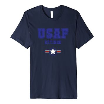 US Air Force Retire Shirt with Stars and Bars