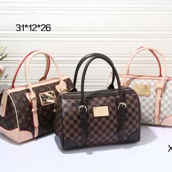 LV Women Leather Multicolor Luggage Travel Bags Tote Handbag