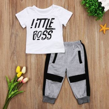 Abacaxi Kids Little Boss Outfit 2T-6T