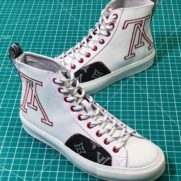 Louis Vuitton Lv Tattoo Sneaker Boot White Sneakers - Best Online Sale