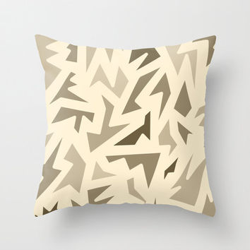 Brown Pillow Cover - Cover Only - Shades of Brown Patterned Pillow Cover - Sofa Pillow Cover - Bed Pillow - Made to Order