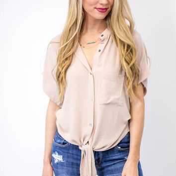 Waisted Tied Top