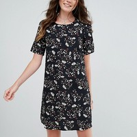 Glamorous Tall Tea Dress In Grunge Floral at asos.com