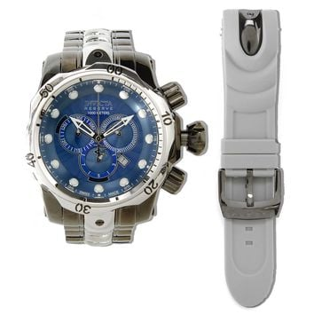 Invicta 13877 Mens Venom Chronograph Blue Dial Interchangeable Bracelet Dive Watch