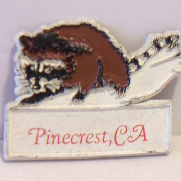 Pinecrest CA Refrigerator Magnet Raccoon Frige Vacation Souvenir Kitchen Home Decor