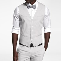 PINSTRIPE STRETCH COTTON SUIT VEST