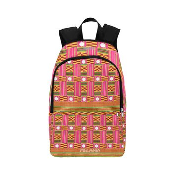 Pink Kente Cloth Fabric Backpack for Adult