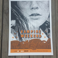 Vampire Weekend Silkscreened poster with Cults