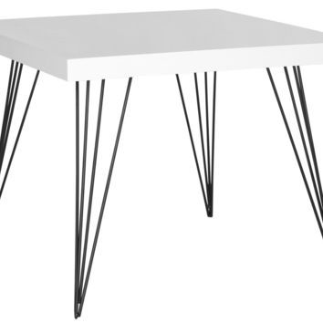 Wolcott Square Lacquer Coffee Table White & Black