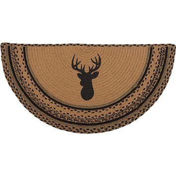 Trophy Mount Braided Half Circle Rug