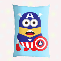 Captain America Funny Character Pillow Case - Custom Pillow - One side ( Front Print )