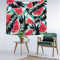 Watermelon Palm Tree Wall Tapestry Custom Printed Unique Dorm Decor Apartment Trendy Wall Art Printed Wall Hanging Wall Tapestry