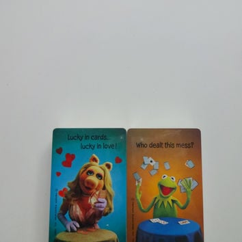 Vintage Dual Deck of Muppet ~ Kermit ~ Miss Piggy ~ Bridge Playing Cards 1980