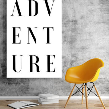 Adv Ent Ure Adventure Quote Travels Gallery Wall Print Adventure Print Travel Wall ArtTravel Quote Travel Art Gallery FASHION ADVENTURE ART