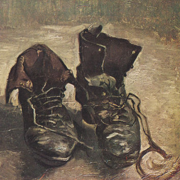 "Vintage Dutch Postcard -- Vincent van Gogh ""The Boots"" -- 1980s"