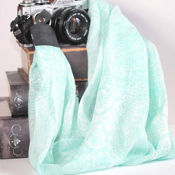 Scarf Camera Strap - Retro, Hipster Strap - Camera Scarf Strap - Wispy Dream