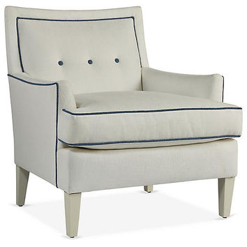 Aria Chair, White Crypton - Accent Chairs - Chairs - Living Room - Furniture | One Kings Lane