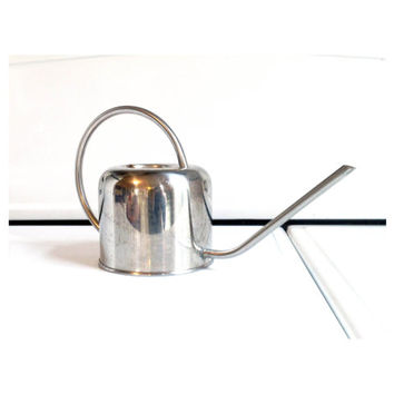 Vintage Chrome Watering Can