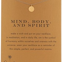 "Dogeared Reminders ""Mind, Body, and Spirit"" Om Disc Charm Necklace"