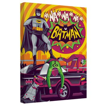 Batman Classic Tv - Batman Wins Again Canvas Wall Art With Back Board