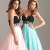 Bra High Rise Chiffon Ball Gown Prom Dress [4918234116]