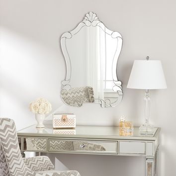 Valencia Bathroom Mirror (Silver)- Contemporary, Shabby Chic, Transitional