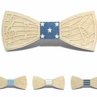 Formal Wooden Bow ties With unique Design - BT101