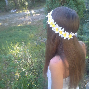 Daisy Flower Crown, Flower Headband, Daffodil Headband, daffodil, Coachella , Hippie Headband, Daisy headband, Flower Child, renaissance