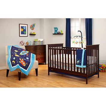 NoJo Out of this World 3-pc. Crib Bedding Set (Blue)