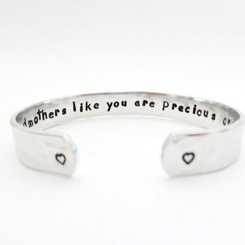 Godmothers Gift, Mothers Gift, Aunt Gift, Aunt like you are... Texured, Custom Stamped Bracelet, Customizable, Gift For Her