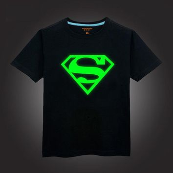 Children t shirts cotton kids summer wear baby & kids superman top and tees cartoon character print