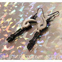 Sailor Saturn Silence Glaive Sailor Moon Inspired Acrylic Earrings for Mahou Kei & Magical Girl Fashion